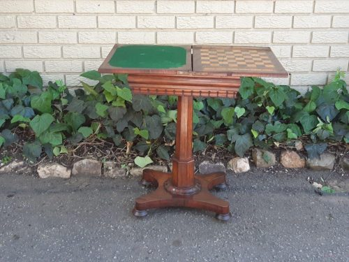 Victorian Rosewood Chess/Games Table