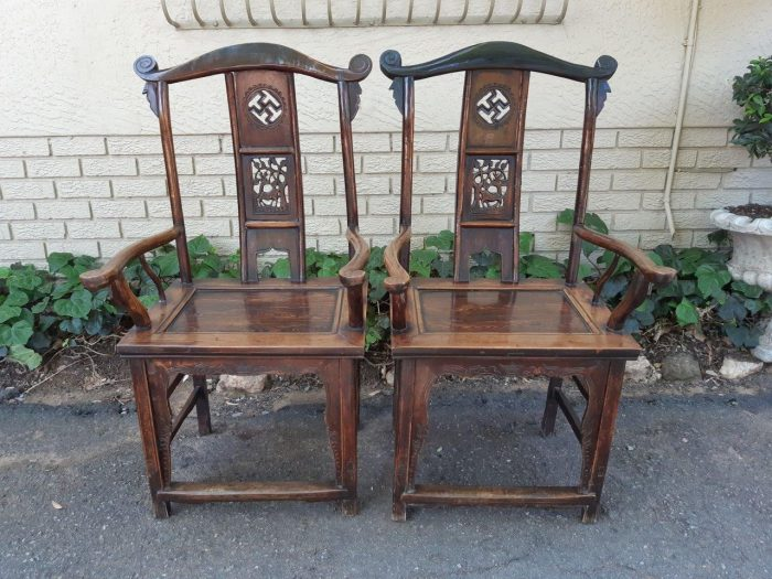 Excellent pair of Chinese armchairs