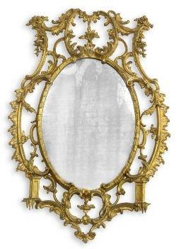 19th/early 20th Century Chinnoiserie and Chippendale Style Gilt Gesso Mirror. Sourced from Harcroft House a historic Constantia mansion in Cape Town. * Full information available on request.