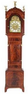 18th Century Scottish Charles Campbell Mahogany Inlaid Longcase Clock Circa 1741