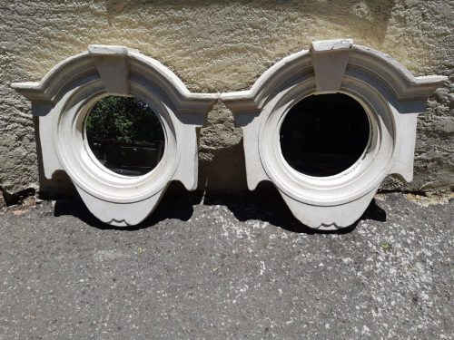 Concrete Moulded Round Frame With Mirror