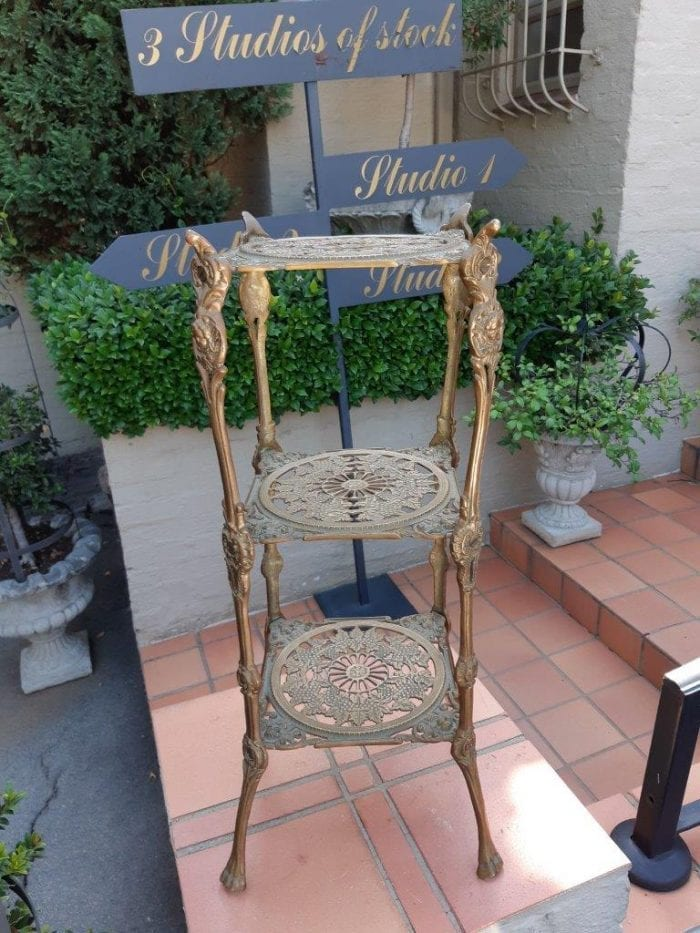 Antique Gilded Brass Display Table