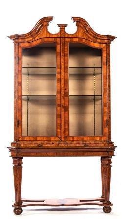 A 19th Century Dutch Walnut Display Cabinet 320cm High