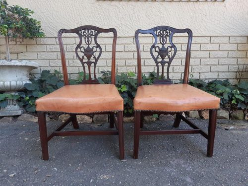 A 19th Century Pair Of Chippendale Style Mahogany Chairs