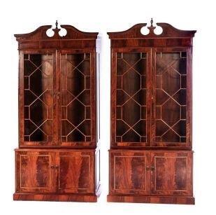 A Pair Of Mahogany Display Cabinets