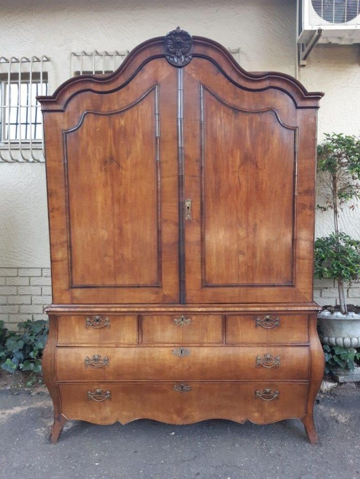 19th Century Dutch Mahogany Armoire Of Large Proportion