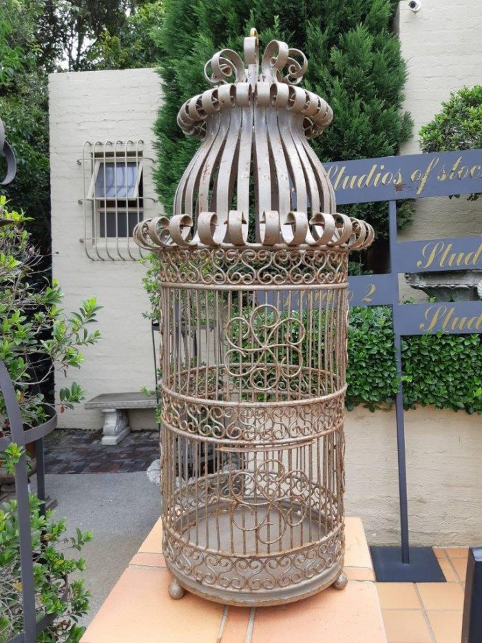 Ornate Metal Bird Cage (Used To Hang In The Old Oyster Box Hotel Reception In Umhlanga)