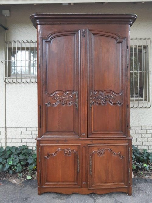 18th Century Extremely Tall (Almost 3m High) Carved French Oak Armoire