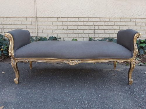 French Style Gilded Chaise / Daybed