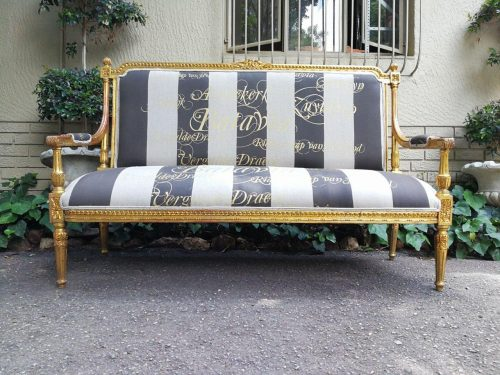 French Style Gilded Settee