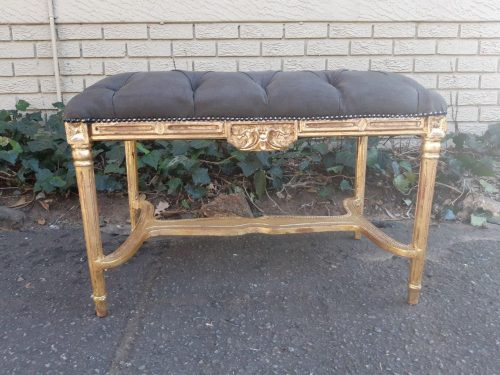 French Style Gilded Ottoman / Stool