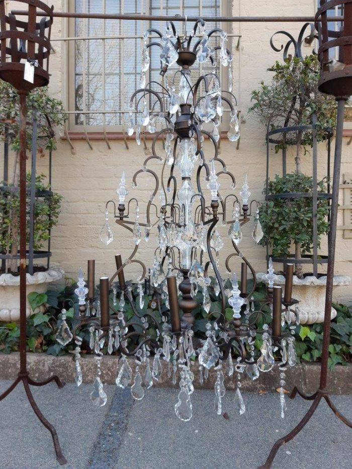 Extremely Large Crystal Twelve Arm Chandelier After the 18th Century Example