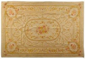 Hand Woven Aubusson Carpet Rug