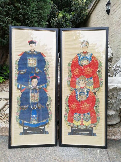 Pair Of Chinese Portraits