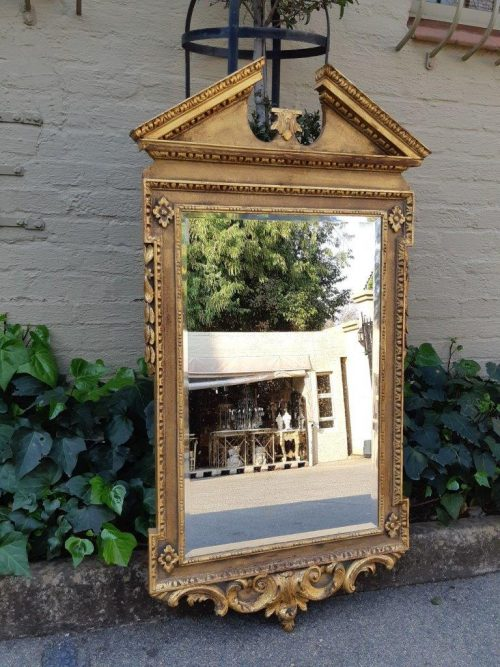 A George II Style Giltwood Mirror - Formerly the property of Punch and Cynthia Barlow