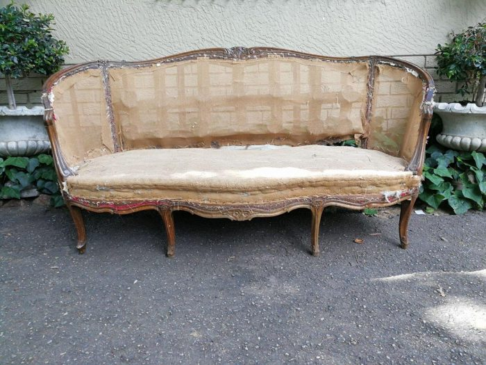 Antique French Mahogany Settee