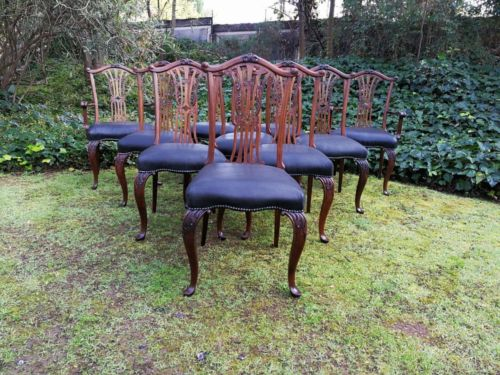 A Set Of Ten George III Style Dining Chairs