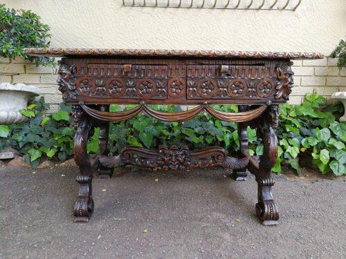 18th Century German Baroque Walnut Table