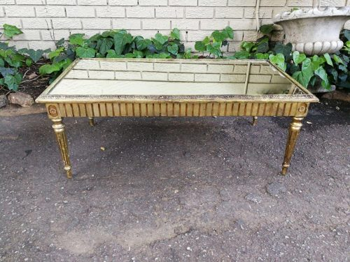 Antique/Vintage Gilded French Style Table With Mirror Top