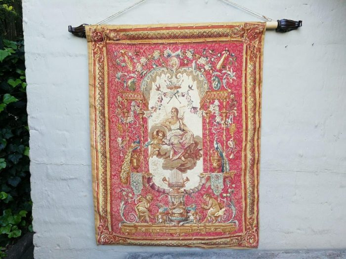 French Tapestry After Le Portique De Junon Rambouillet Is A Limited Edition And Made In France  This Tapestry Is Styled After The 1786 French Tapestry Entitled Portique De Junon Which Is Conserved In The Musee Des Gobelins