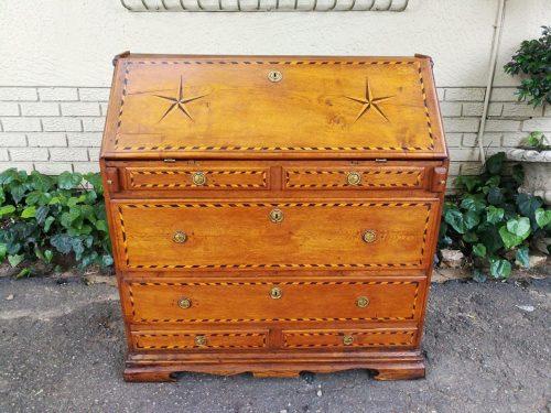 18th Century And Rare Continental Oak Writing Bureau