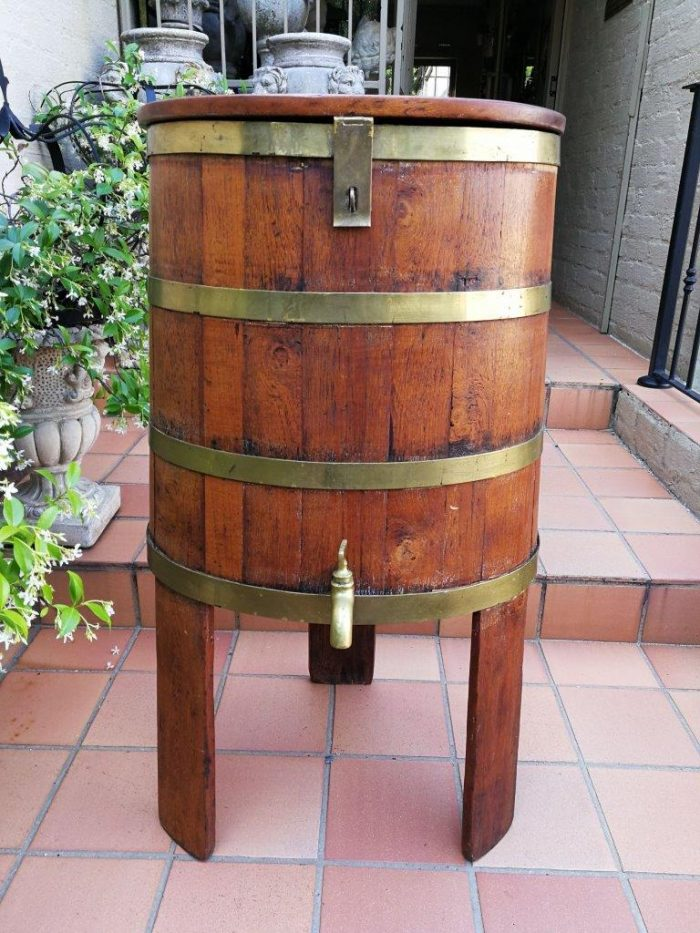 Cape Teak Water Barrel On Stand