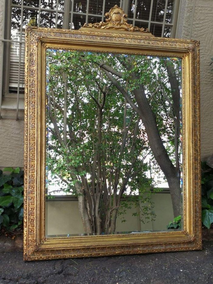 A Massive And Ornately Framed Gilded Mirror With Bevelled Mirror - Nd