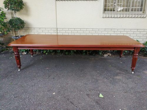 A Pierre Cronje Extremely Large Custom Made Victorian Style Solid Mahogany Table/Dining Table 3.3m