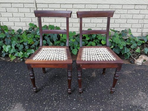A Pair Of Cape Regency Stinkwood Chairs