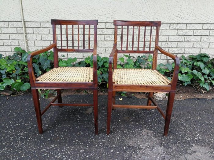 A Pair Of Cape Mulberry Armchairs