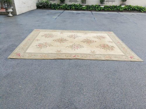 A Hand Knotted Aubusson Carpet - Nd