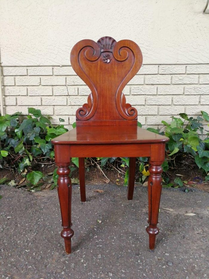 A Victorian Mahogany Chair With Carved Detail