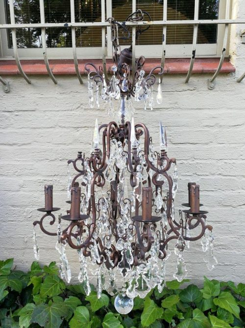 A Late 20th Century French Style Gilt Metal And Crystal Chandelier