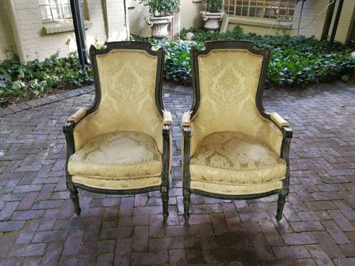 20th Century Pair Of French-Style Painted Armchairs