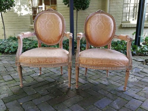 20th Century Pair Of French-Style Arm-Chairs