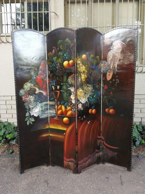 A Commissioned And Painted Screen By David Althorpe