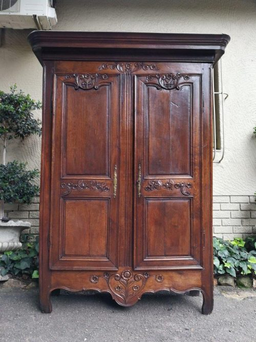 A 19th Century French Oak Armoire
