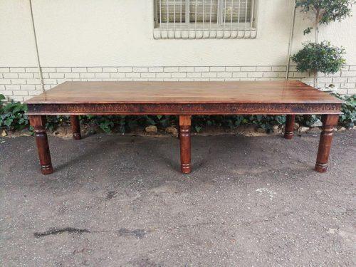 A Carved Mahogany Table