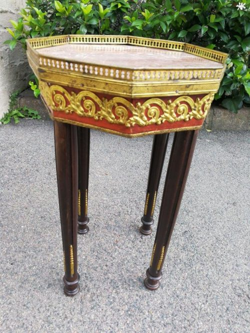 An Ebonised And Gilt-Metal Mounted Occasional Table