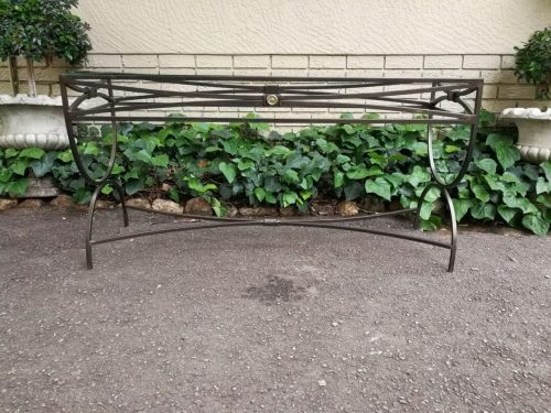 Wrought Iron Server With Glass Top