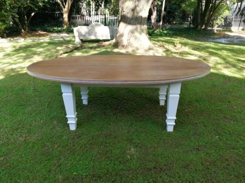 Large Burmese Teak Oval Table