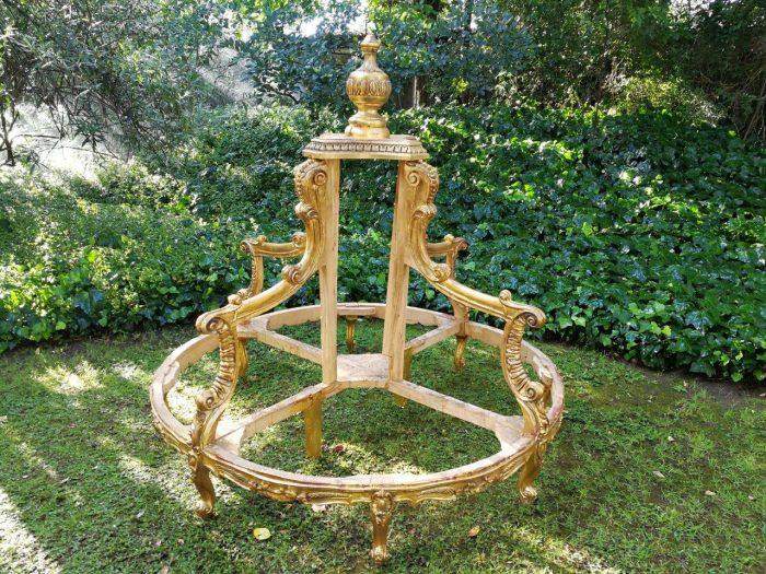 Hand-Gilded With 22karat Gold Leaf - Un-Upholstered