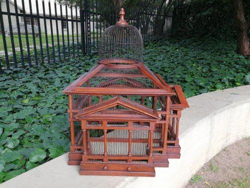 Antique Wooden Bird-Cage