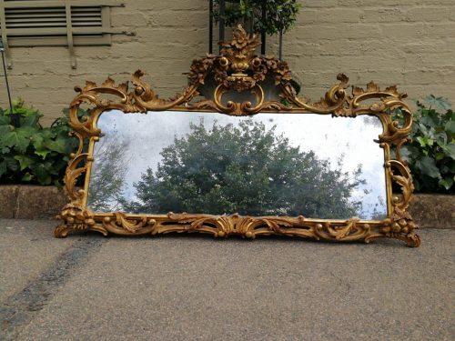 A George Iii Giltwood Mirror - Nd