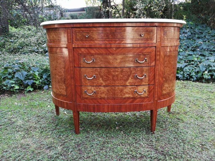 French Louis XV Styled Inlaid Commodes