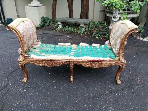 A Gilded Ottoman *Still To Be Reupholstered*
