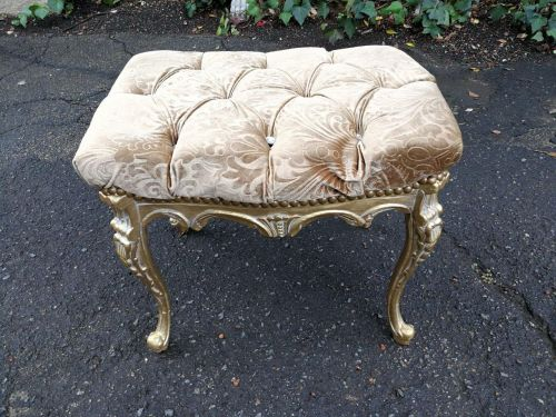 Carved And Gilded Stool *Still To Be Reupholstered*