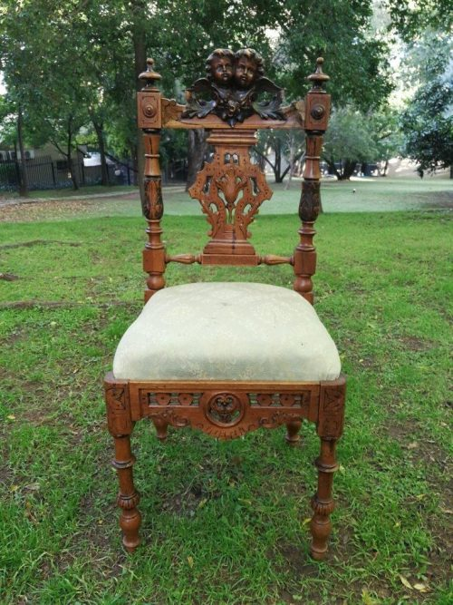 A 19th Century walnut carved chair