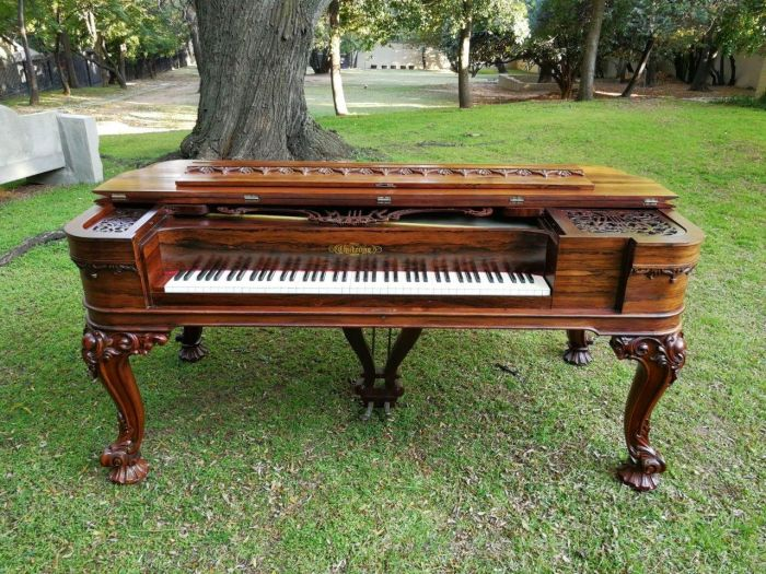 A 19th century CHICKERING BOSTON rosewood upright grand piano