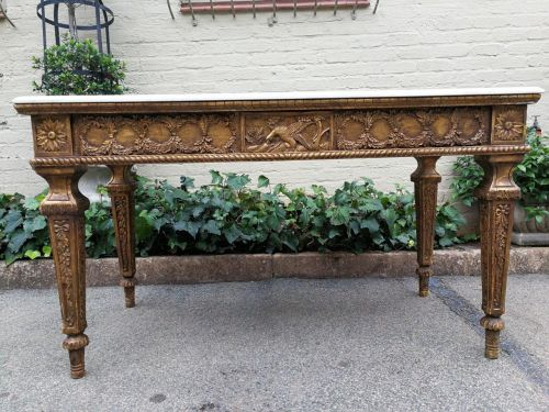Gilded Table With Granite Top